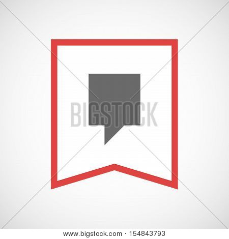 Isolated Line Art Ribbon Icon With A Tooltip