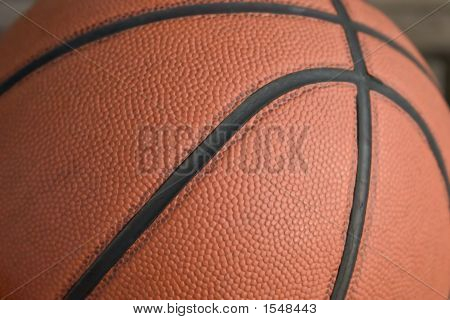 Close Up Macro Of Basketball Pattern And Texture