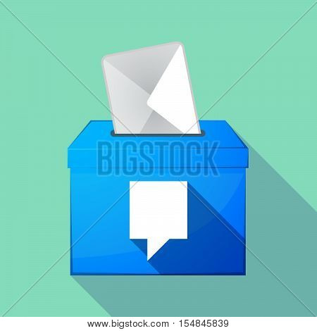 Long Shadow Coloured Ballot Box Icon With A Tooltip