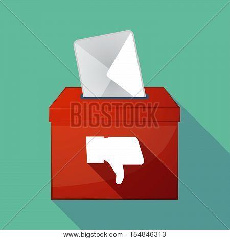 Long Shadow Coloured Ballot Box Icon With A Sum Sign