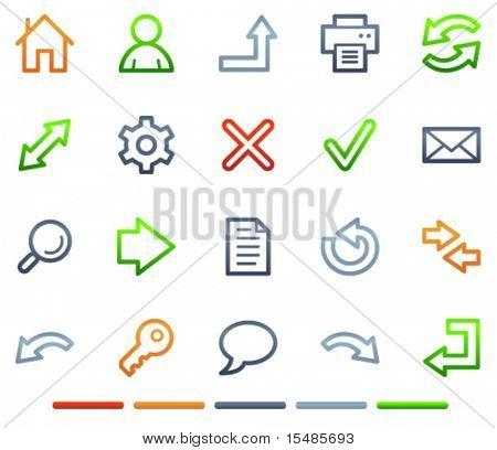 Basic web icons, colour symbols series