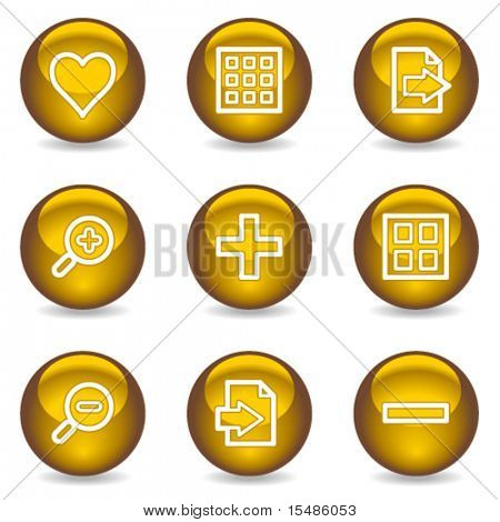 Image viewer web icons, gold glossy series