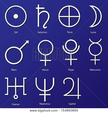 Planet Symbols. Vector, Astrology Vector & Photo | Bigstock
