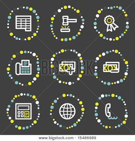 Finance web icons set 2, color dots series