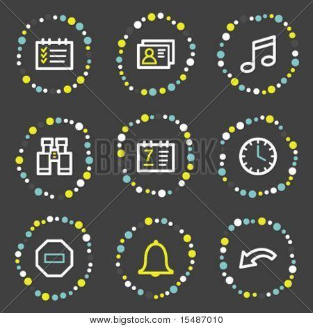 Organizer web icons, color dots series