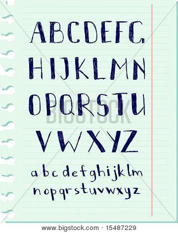 Pen alphabet