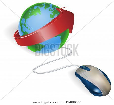 Mouse And Arrow Globe