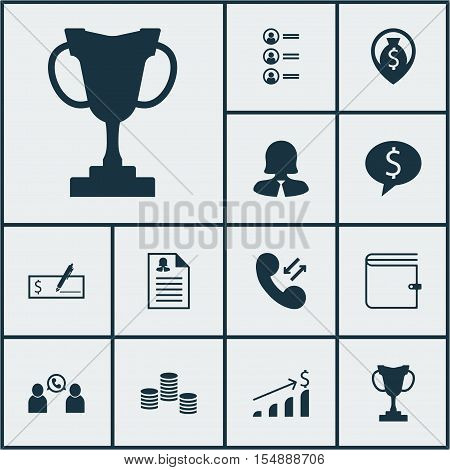 Set Of Hr Icons On Bank Payment, Money Navigation And Money Topics. Editable Vector Illustration. In