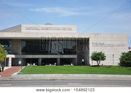 PHILADELPHIA - AUG 14, 2010: National Constitution Center in Philadelphia, Pennsylvania, USA.