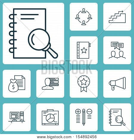 Set Of Project Management Icons On Collaboration, Growth And Announcement Topics. Editable Vector Il