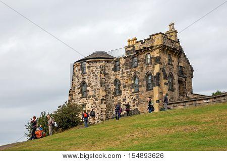 Gothic Tower On Calton Hill In Edinburgh