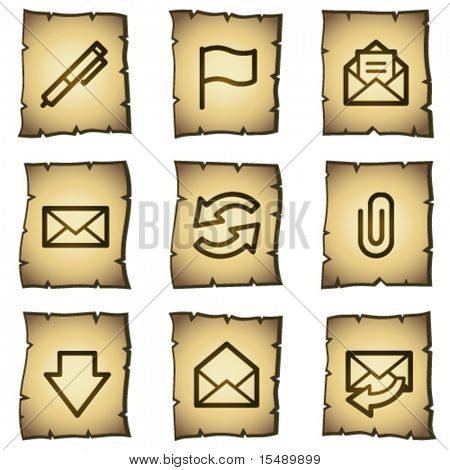 E-mail web icons, papyrus series
