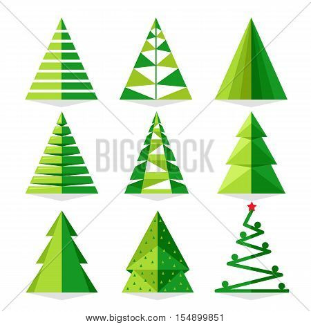 Funny Christmas Tree And Vector On White Background Cartoon Icon