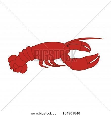 red lobster icon. sea food design. vector illustration
