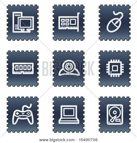 Computer web icons, navy stamp series