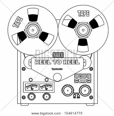A typical reel to reel half inch stereo master tape recorder.