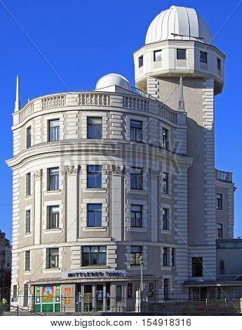 Vienna, Austria - November 7, 2015: building with interesting architecture in Vienna Austria