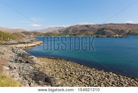 Loch nan Uamh Lochaber Scotland west coast of Scottish Highlands near Arisaig on the A830 from where Prince Charles Edward Stuart left for France in 1746 following the failure of the Jacobite rising