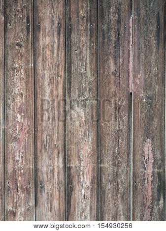 Picture of the old wooden fence. Background of the wooden texture. Wooden pattern on the old fence. An old planking of the fence.