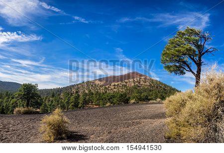 Sunset Crater National Monument near Flagstaff Arizona USA