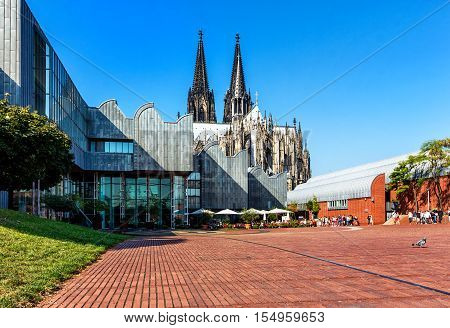 The Heinrich-Boell-Square in Cologne, North Rhine-Westphalia, Germany