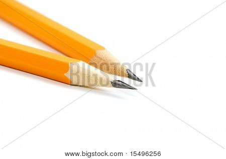 Pencis on a white background
