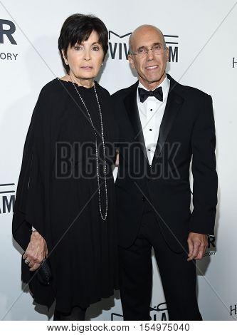 LOS ANGELES - OCT 27:  Jeffrey Katzenberg and Marilyn Katzenberg arrives to the amFAR's Inspiration Gala on October 27, 2016 in Hollywood, CA