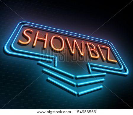 Showbiz Sign Concept.