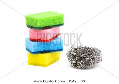 Sponge on a white background