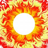 Sun Background, Solar, Fiery Aura