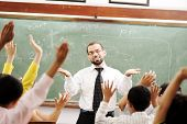 picture of muslim man  - Interaction between teacher and children - JPG