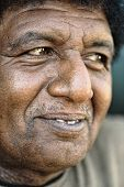foto of afrikaner  - Black african positive man portrait - JPG