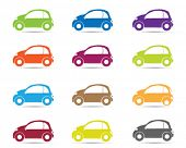 image of flashers  - car silhouette in different color - JPG