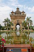 Laos Monument poster