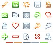 Image library web icons, colour symbols series