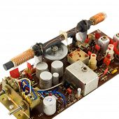 foto of ferrite  - old disassembled radio receiver - JPG