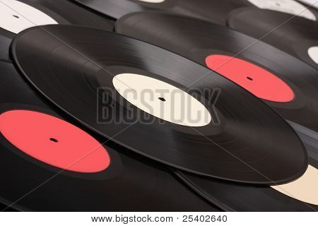 Vinyl disk. Retro