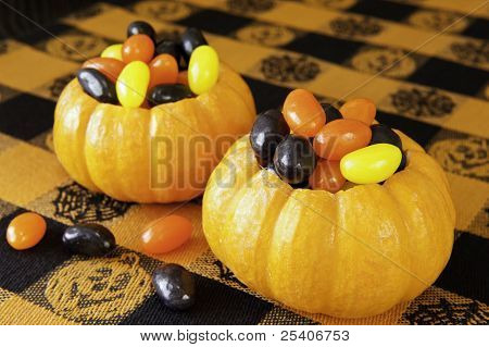 Pumpkins Filled With Jellybeans