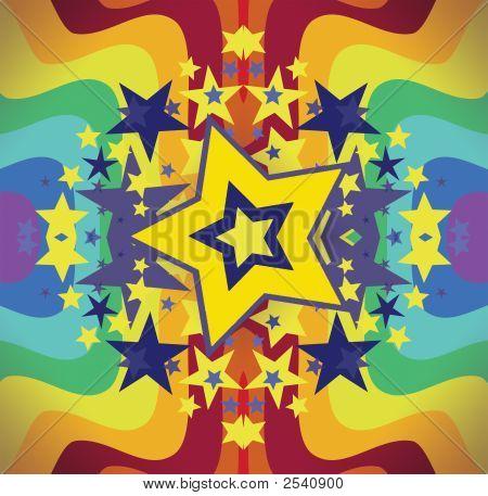 Arco iris de estrellas brillantes