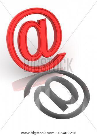 Sign. E-mail. 3d