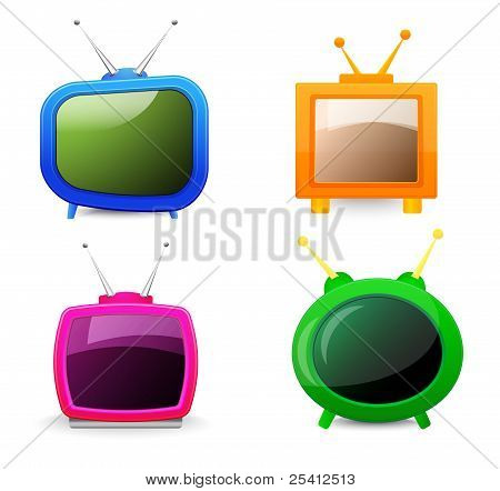 Set Of Four Different Tv
