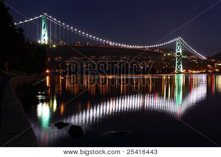 Lions Gate Bridge Lights, Vancouver