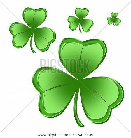 Green Shamrock Four Sizes