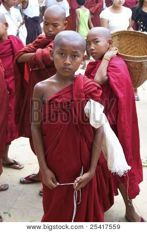 Young Boy Novice Monk Myanmar