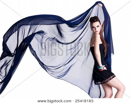 Glamour Model With Chiffon