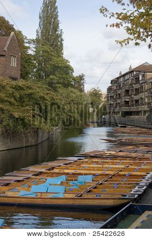 Punts on the Cam, Cambridge