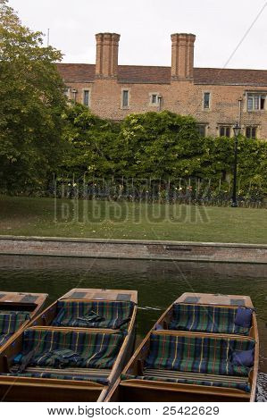 Punts at Magdalene College, Cambridge