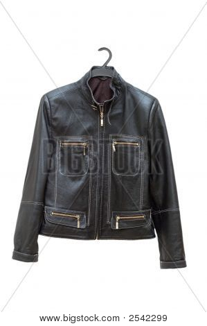 Black Jacket Isolated On The White Backrgound