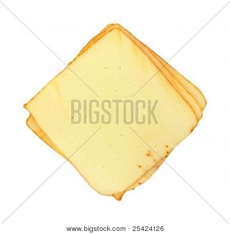 Several Slices Of Muenster Cheese