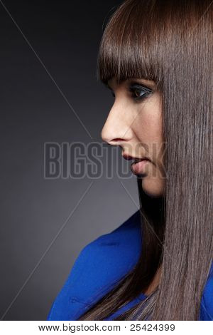 Profile view of woman